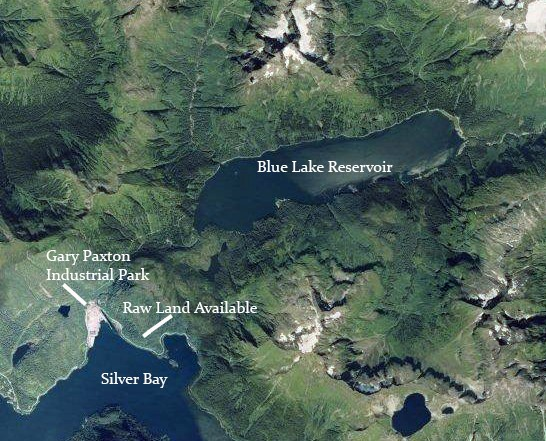 Aerial Photo of Blue Lake Reservoir prior to the 2014 dam expansion.