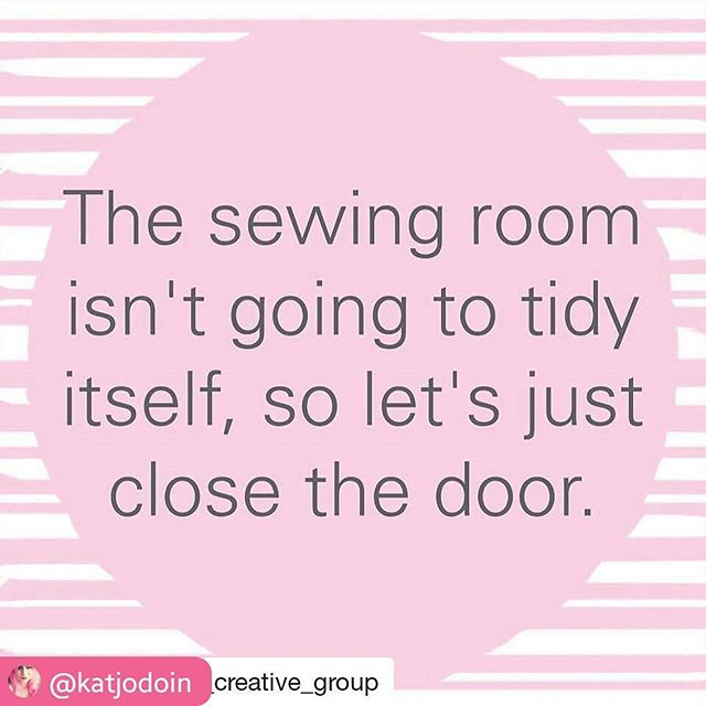 LOVE THIS!  #RepostSave @katjodoin with @repostsaveapp ・・・ @simplicity_creative_group ・・・ Don't stress the mess! 🙌🏻 #sundayfunnies #simplicity #sewing #sewingquotes