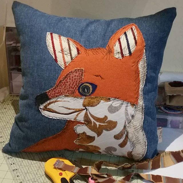 Had a lot of fun sewing with my sister today. We just finished a fox for tomorrow's market. Her name is Fern! #showlowfarmersmarket #fox #animalpillows #applique #local #handmade #slyasafox #orange #loyalbird  #whitemountains #wildlife #madebyme #homedecor #cushions