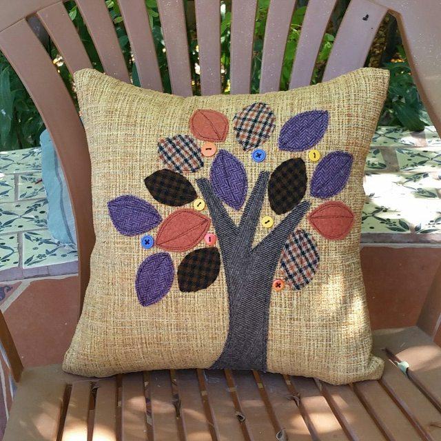 3 fall pillows for a friend. I hope she likes them! #fall #handmade #sewing #homedecor #cushions #upholstery #seasons #pumpkin #loyalbird #localartist #localaz #fallcolors