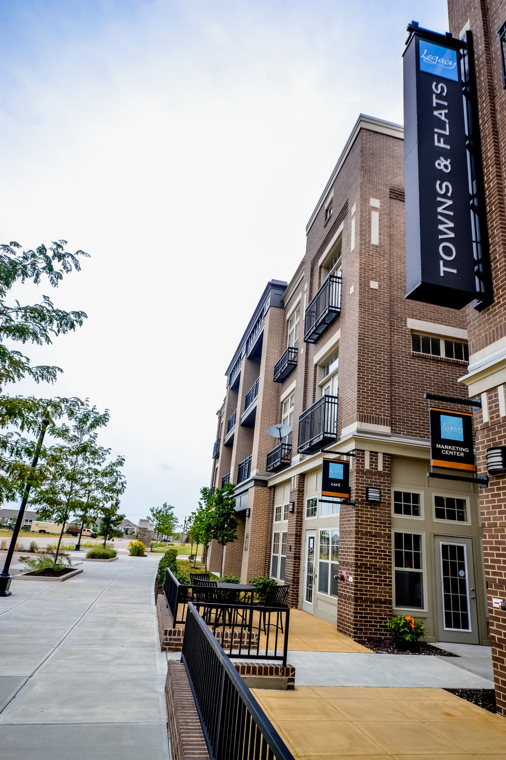 1 Apartments Carmel Noblesville Fishers Legacy great shot of main building.jpg
