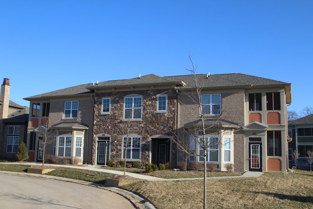 Apartments Indianapolis Legacy front of town homes .JPG