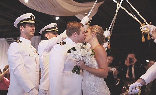 { I now pronounce you } #husbandandwife #shotgunsandchampagne #ido #married #marriagegoals #photography #videography #military #weddings #weddingreception #weddingday #brideandgroom #bride #sendoff #celebrate #celebratelife