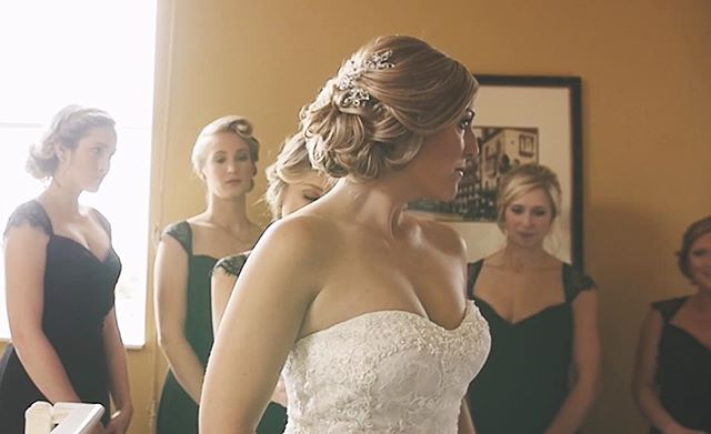 The first stunning look at the bride #shotgunsandchampagne #photography #videography #weddings #weddingday #bridalwear #bridalparty #bridalhair #brideandgroom #themrs #mrandmrs Photo and video cred: Rebecca Rice