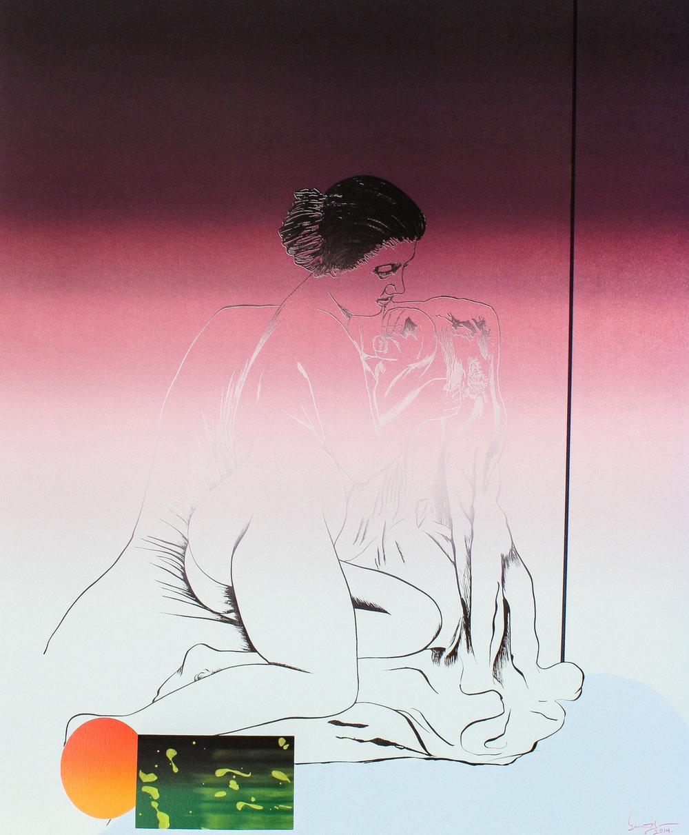Untitled (detail) | Mujer Relajada   |  ©  Lino Martinez
