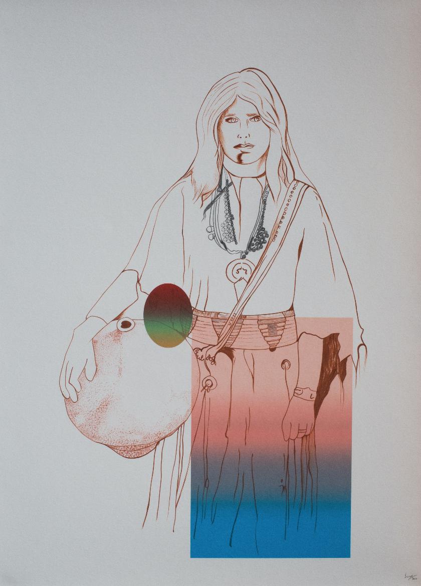 Apache Water Carrier |©Lino Martinez