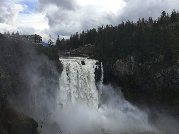 THE FALLS:     The Snoqualmie Falls (White Tail Falls) has got to be one of the most iconic and breath taking locations used in the show.
