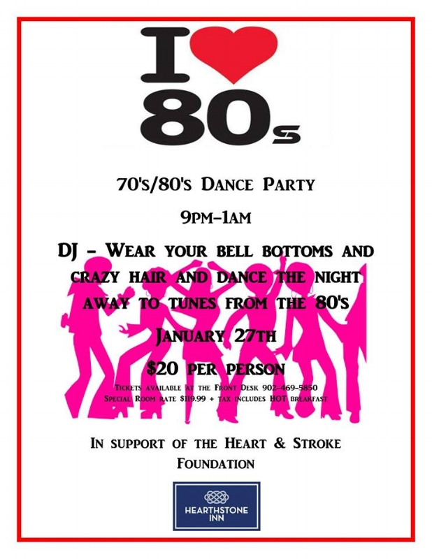70s/80s Dance Party — Claudia Chender
