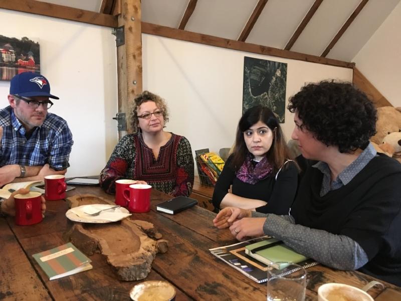 Meeting with parents, SAC members, and community members in Mahone Bay