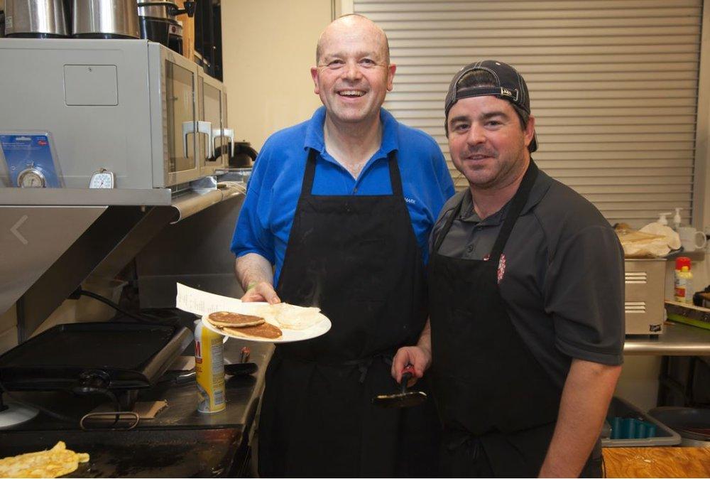 John & John working hard behind the scenes - Photo by Ken Thompson, Dartmouth Snapd