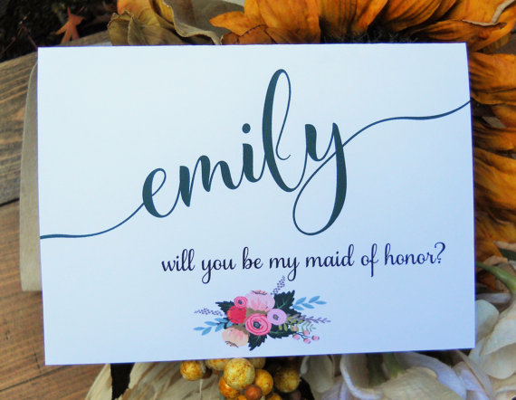 "Long Shadow Paper ""Will You Be My Bridesmaid?"" cards.  $4.50"