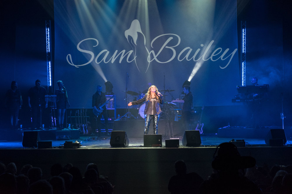 SAM BAILEY PERFORMS AT DUNFERMLINE ALHAMBRA THEATRE  PICTURE BY: COLIN FOY PHOTOGRAPHY