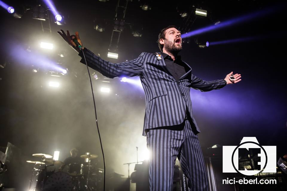 TOM MEIGHAN OF 'KASABIAN' PERFORMING AT LONDON'S O2 FORUM KENTISH TOWN PICTURE BY: NICI EBERL PHOTOGRAPHY (O2 FORUM HOUSE PHOTOGRAPHER)