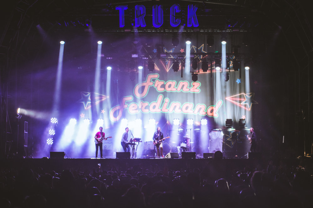 FRANZ FERDINAND headlining Friday night at TRUCK FESTIVAL 2017 Photo Credit: Sarah Koury - Entirety Labs