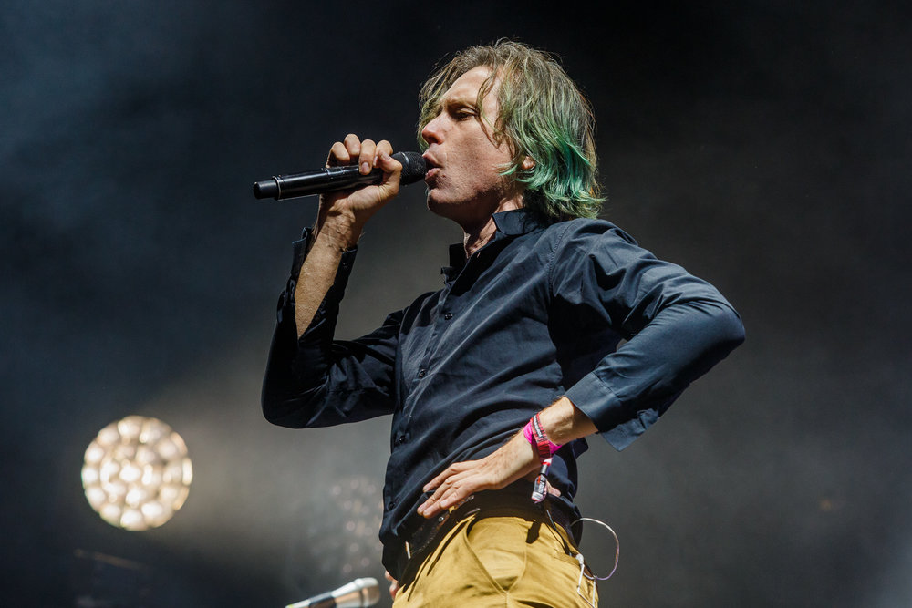 FRANZ FERDINAND HEADLINING MAIN STAGE AT KENDAL CALLING 2017 - 27/07/2017  PICTURE BY: JODY HARTLEY