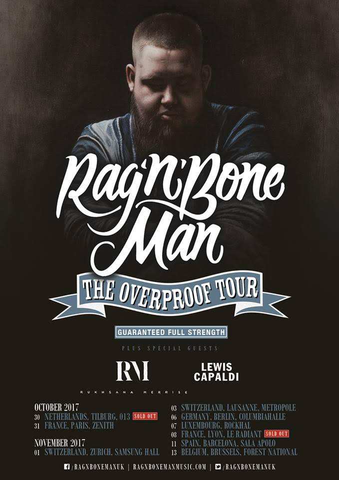 RAG 'N' BONE MAN - THE OVERPROOF TOUR - LEWIS CAPALDI SUPPORTING   PHOTO SOURCE: APB PR