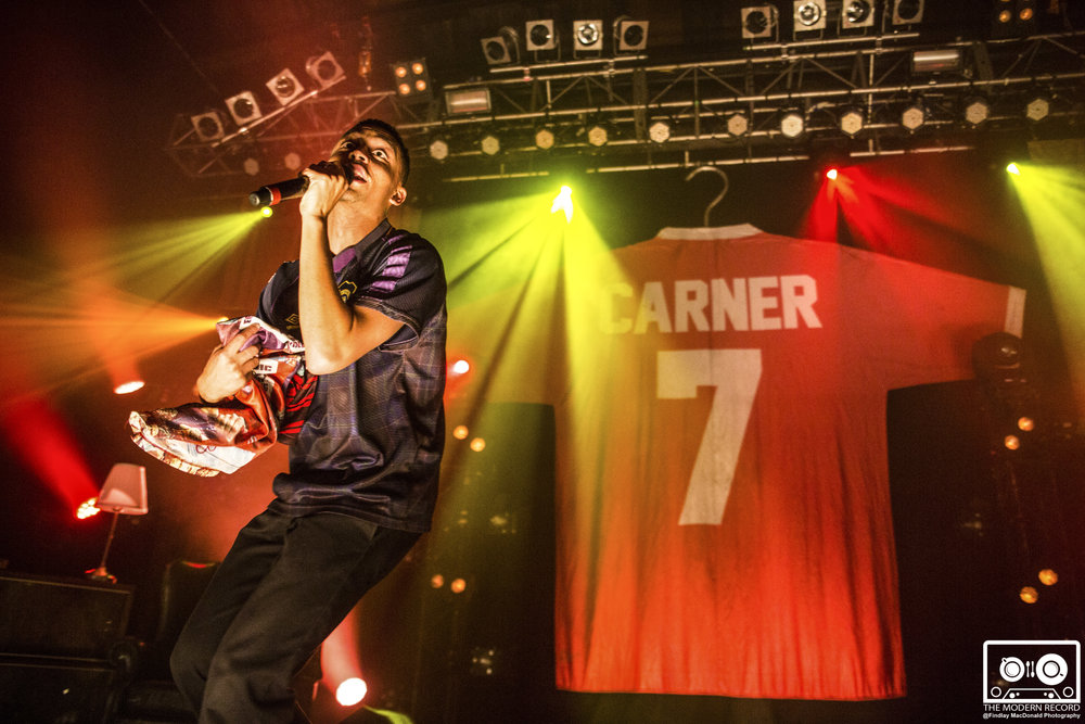 LOYLE CARNER PEFORMING SOLD OUT SHOW AT GLASGOW'S O2 ABC - 28/09/2017  PICTURE BY: FINDLAY MACDONALD PHOTOGRAPHY