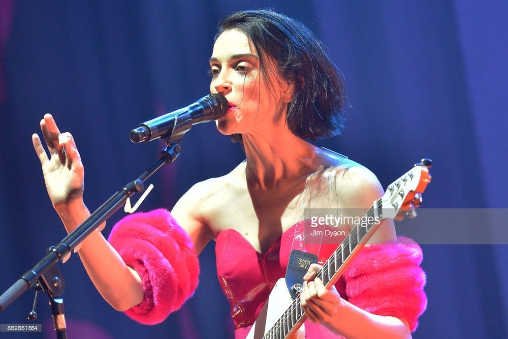 ST. VINCENT PERFORMING TO SOLD OUT CROWD AT LONDON'S O2 BRIXTON ACADEMY - 17/10/2017  PICTURE BY: JIM DYSON - GETTY IMAGES