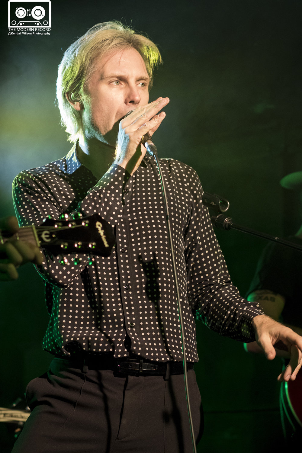 ALEX KAPRANOS OF FRANZ FERDINAND PERFORMING WITH BNQT AT GLASGOW'S ORAN MOR - 01/11/2017  PICTURE BY: KENDALL WILSON PHOTOGRAPHY