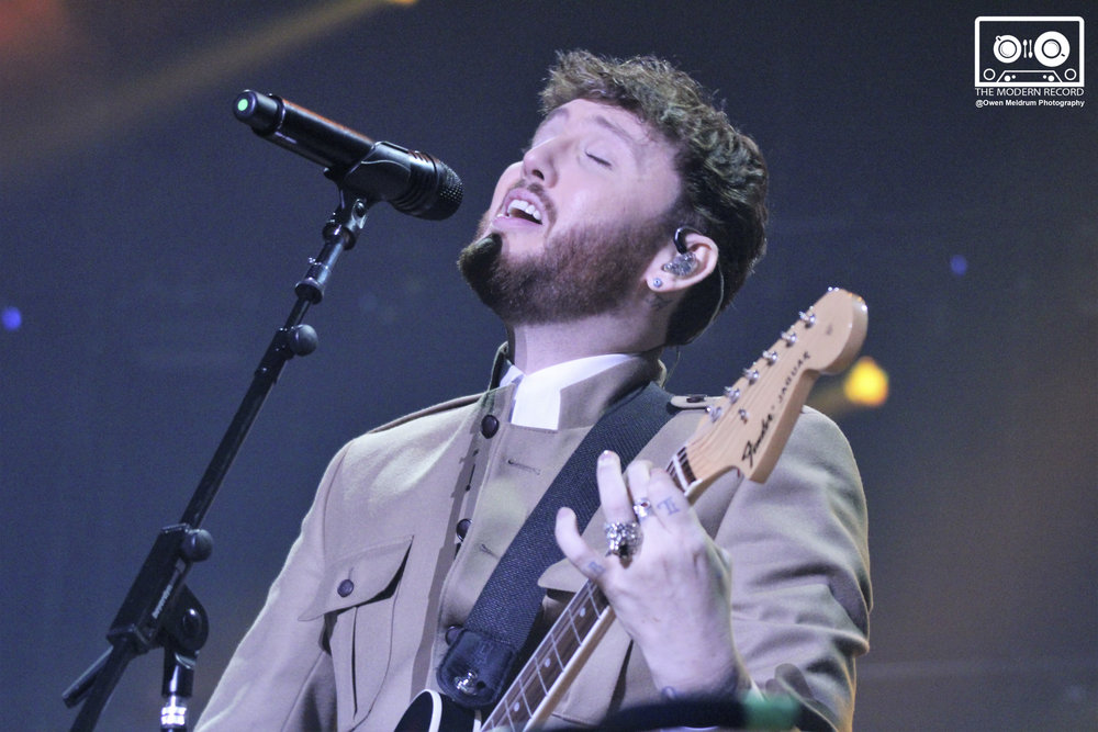 JAMES ARTHUR PERFORMING AT GLASGOW'S SSE HYDRO - 28/11/2017  PICTURE BY: OWEN MELDRUM PHOTOGRAPHY