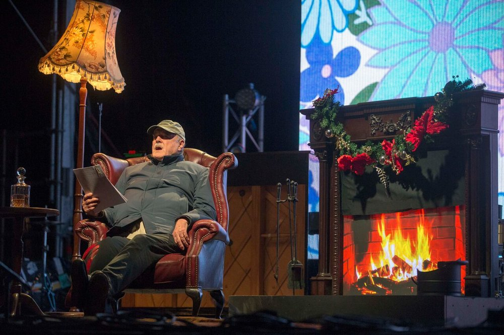 John Cleese reading Bed-time story at Sleep In The Park 2017 in Edinburgh - 09/12/2017  PICTURE BY: JEFF HOLMES