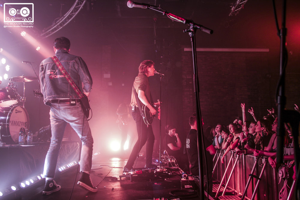 THE AMAZONS PERFORMING AT GLASGOW'S GARAGE - 02.02.2018  PICTURE BY: KRISTEN BRODIE PHOTOGRAPHY