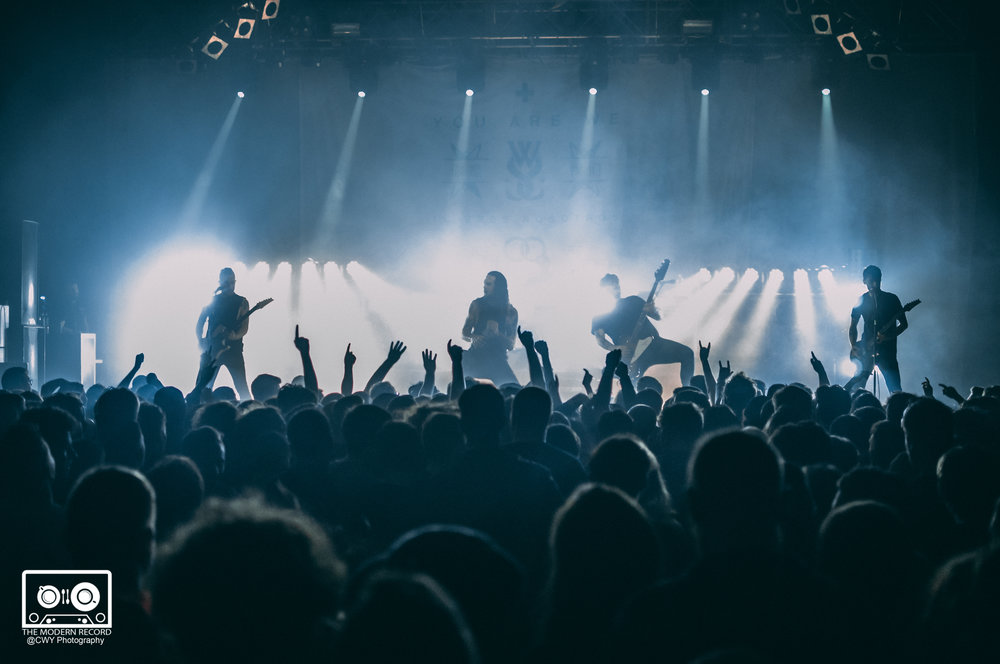 WHILE SHE SLEEPS PERFORMING AT O2 ABC, GLASGOW - 08.02.18 PICTURE: CWY PHOTOGRAPHY