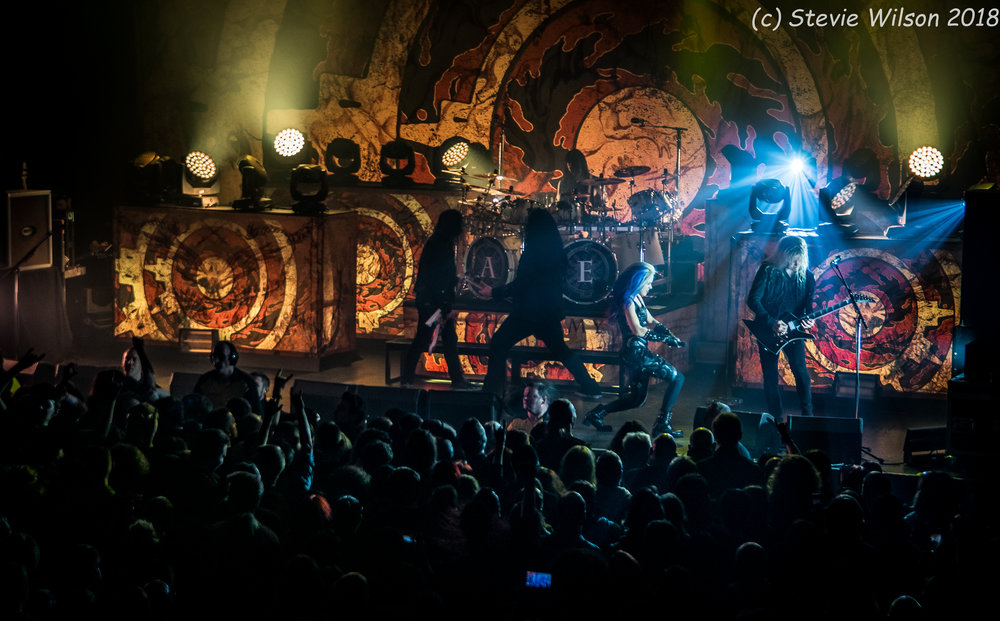 ARCH ENEMY PERFORMING AT O2 ABC GLASGOW, 09.02.18  PICTURE: STEPHEN WILSON PHOTOGRAPHY