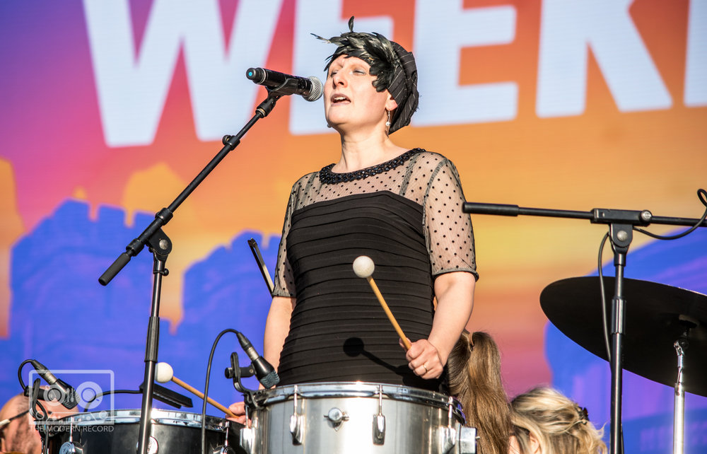 THE KARINE POLWART TIO PERFORMING AT BBC BIGGEST WEEKEND IN PERTH - 25.05.2018  PICTURE BY: STEPHEN WILSON PHOTOGRAPHY