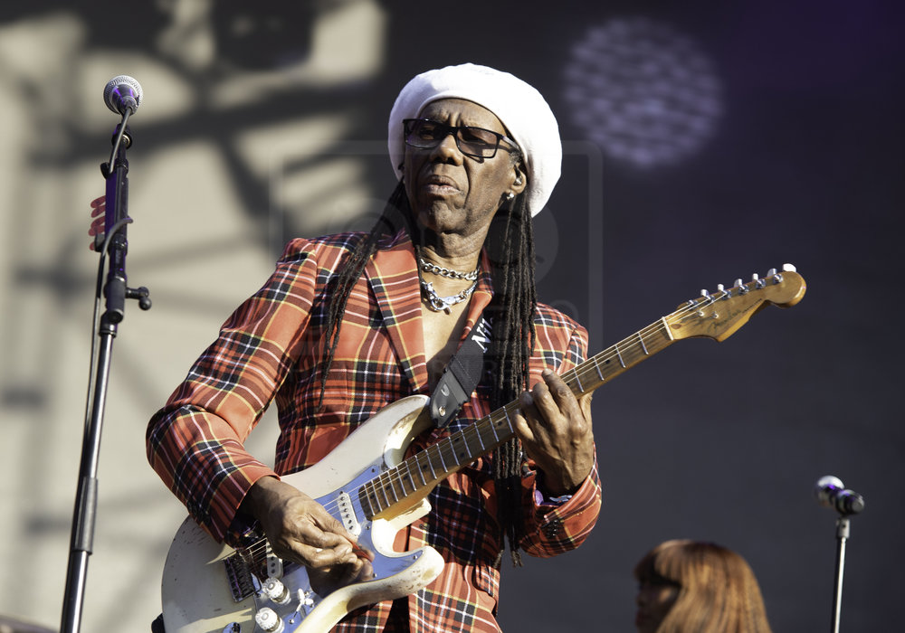 NILE RODGERS & CHIC PERFORMING AT FIESTA X FOLD FESTIVAL AT KELVINGROVE PARK, GLASGOW - 30.06.2018  PICTURE BY: CALUM BUCHAN PHOTOGRAPHY