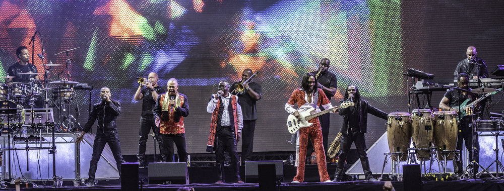 EARTH, WIND & FIRE CLOSING DAY ONE AT THE FIRST EVER FIESTA X FOLD FESTIVAL AT KELVINGROVE PARK, GLASGOW - 30.06.2018  PICTURE BY: CALUM BUCHAN PHOTOGRAPHY