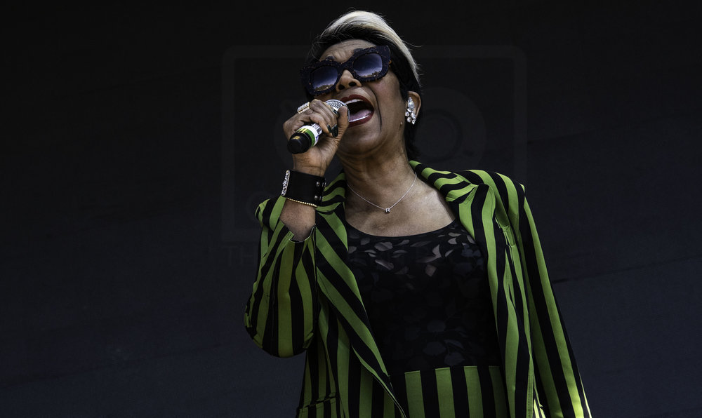 ANITA POINTER OF THE POINTER SISTERS PERFORMING AT FIESTA X FOLD FESTIVAL - 30.06.2018  PICTURE BY: CALUM BUCHAN PHOTOGRAPHY