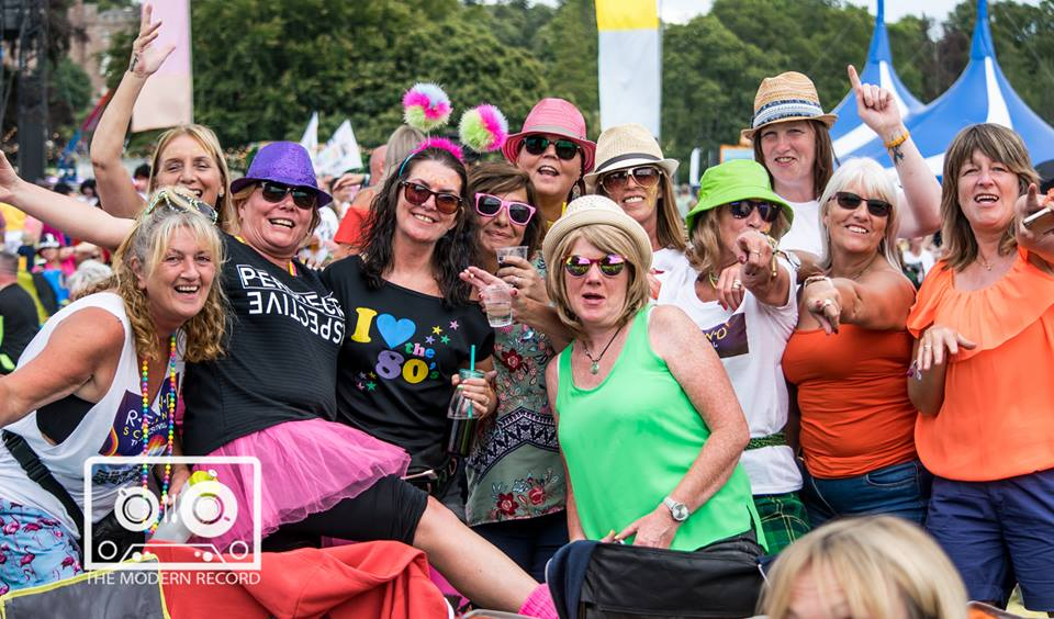 REWIND! SCOTLAND 2018 - SATURDAY - 21.07.2018 - (CROWD GOERS ENJOYING THE 80's PARTY)  PICTURE BY: STEPHEN WILSON PHOTOGRAPHY