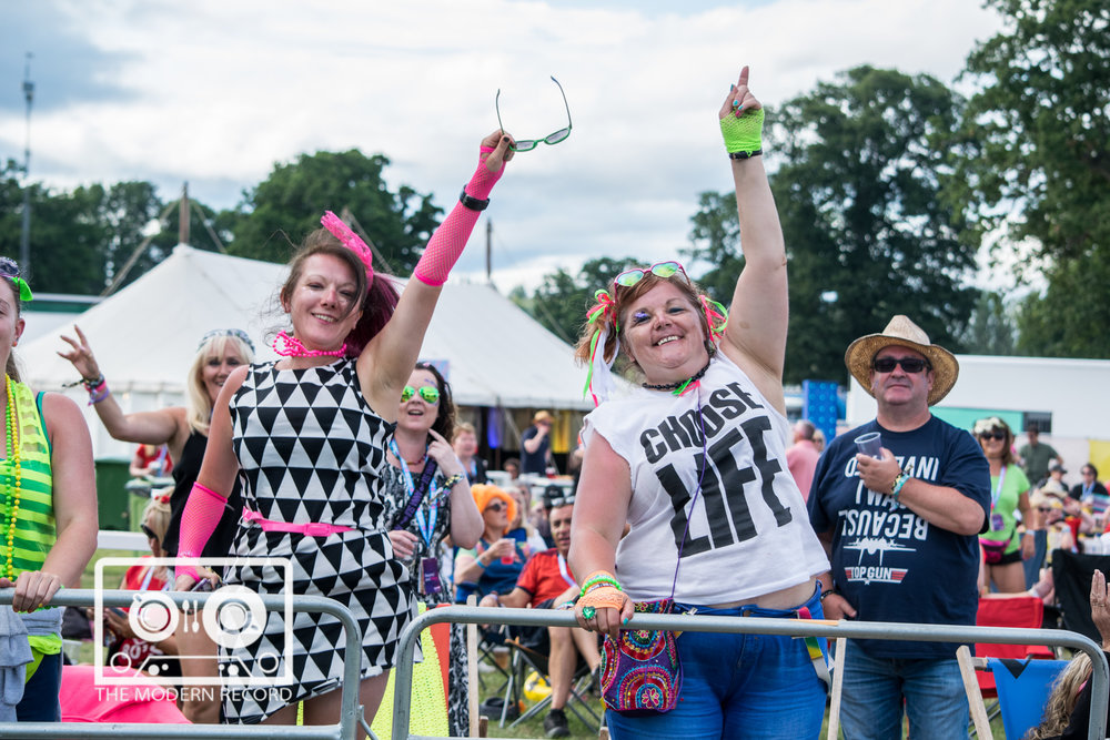 REWIND! SCOTLAND 2018 - SUNDAY - 22.07.2018 - (CROWD GOERS ENJOYING THE 80's PARTY)  PICTURE BY: STEPHEN WILSON PHOTOGRAPHY