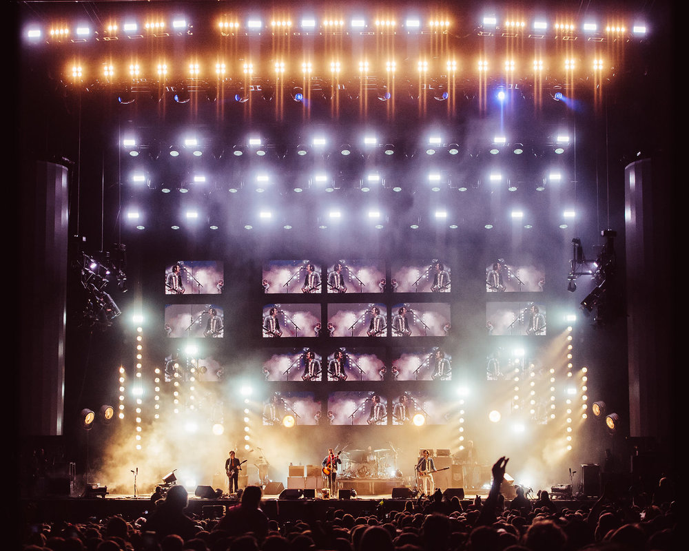 KINGS OF LEON HEADLINING AND CLOSING FIRST DAY OF LEEDS FESTIVAL 2018 ON THE MAIN STAGE - 24.08.2018  PICTURE BY: MATT EACHUS