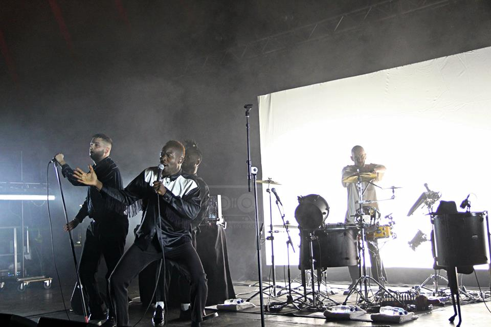 YOUNG FATHERS PERFORMING AT ELECTRIC FIELDS 2018 - 31.08.2018  PICTURE BY: KRISTEN BRODIE PHOTOGRAPHY