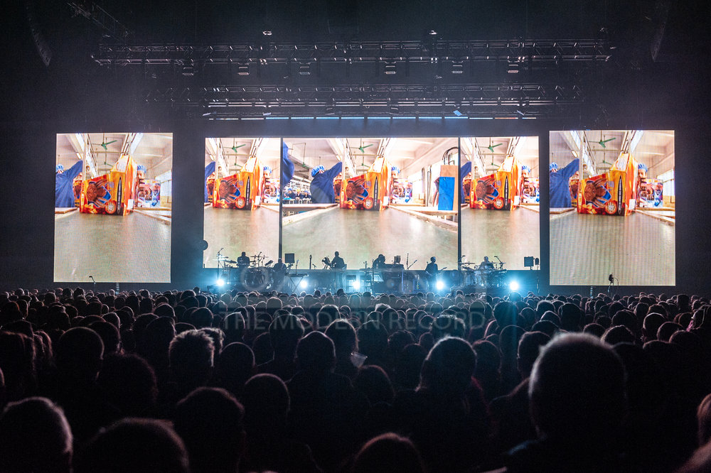 MASSIVE ATTACK PERFORMING AT THE SSE HYDRO IN GLASGOW - 28.01.2019  PICTURE BY: ROBERTO RICCIUTI PHOTOGRAPHY