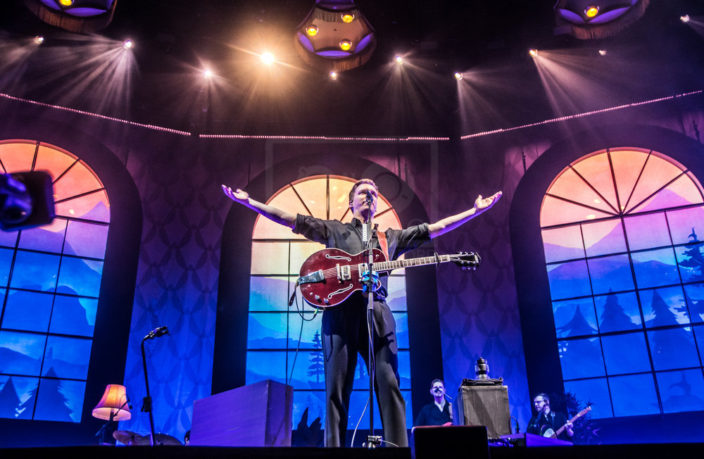 GEORGE EZRA PERFORMING AT GLASGOW'S SSE HYDRO - 15.03.2019  PICTURE BY: STEPHEN WILSON PHOTOGRAPHY