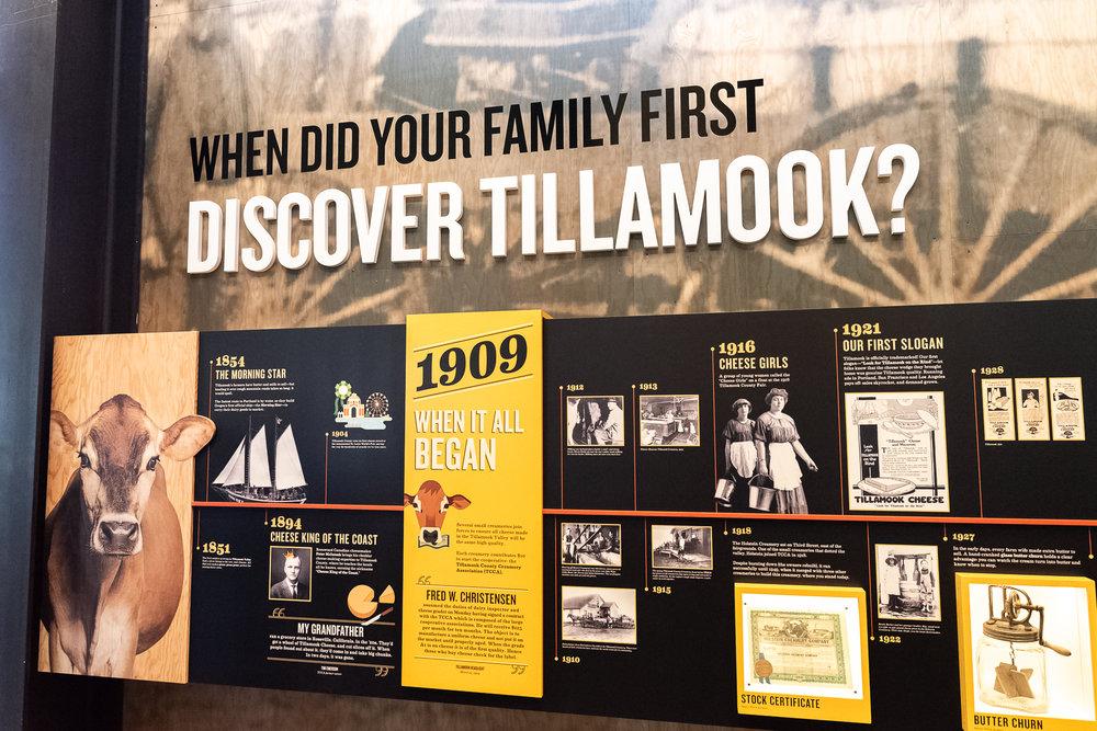 Discover Tillamook Timeline