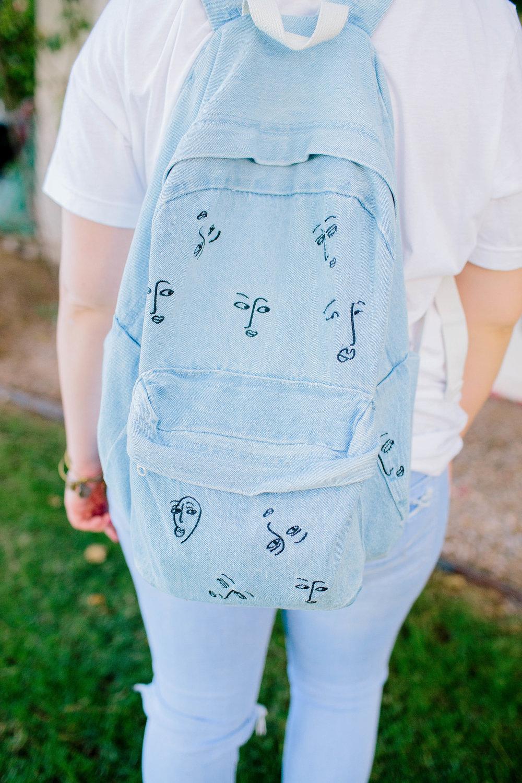 The Love Club Denim Backpack