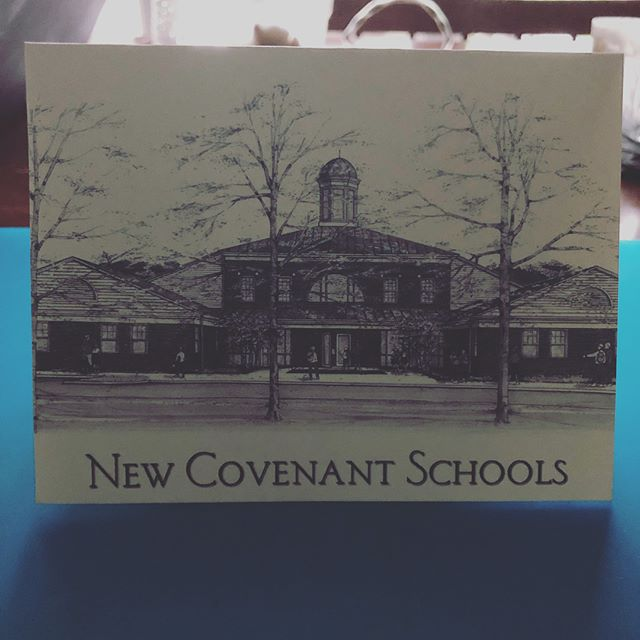 It was a card day in the mail today!  And I will say, even after 14 years, i never take for granted getting these reminders that the faculty @newcovenantschools has prayed for our children.  2Cor. 1:11