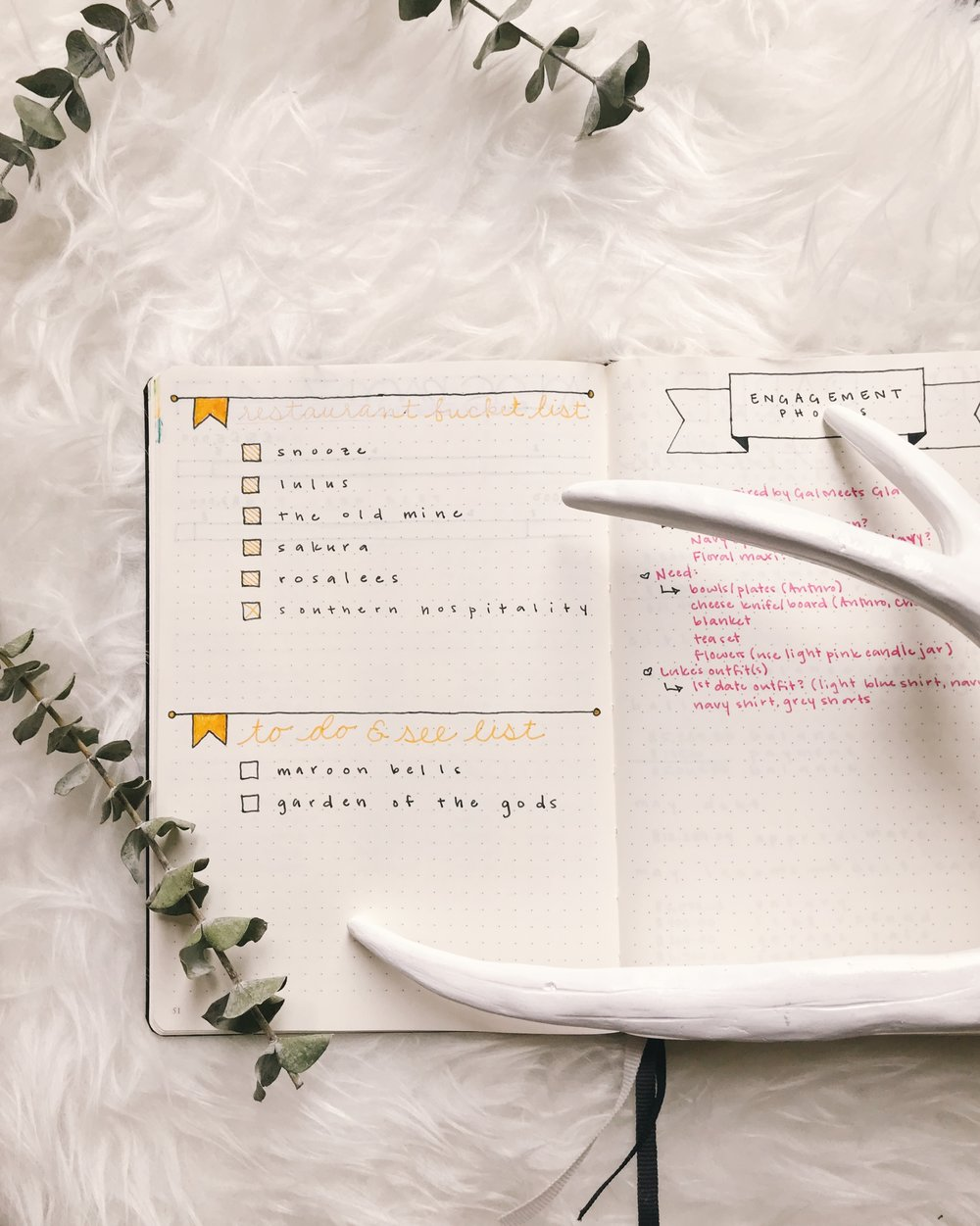 Bullet Journal Bucket List