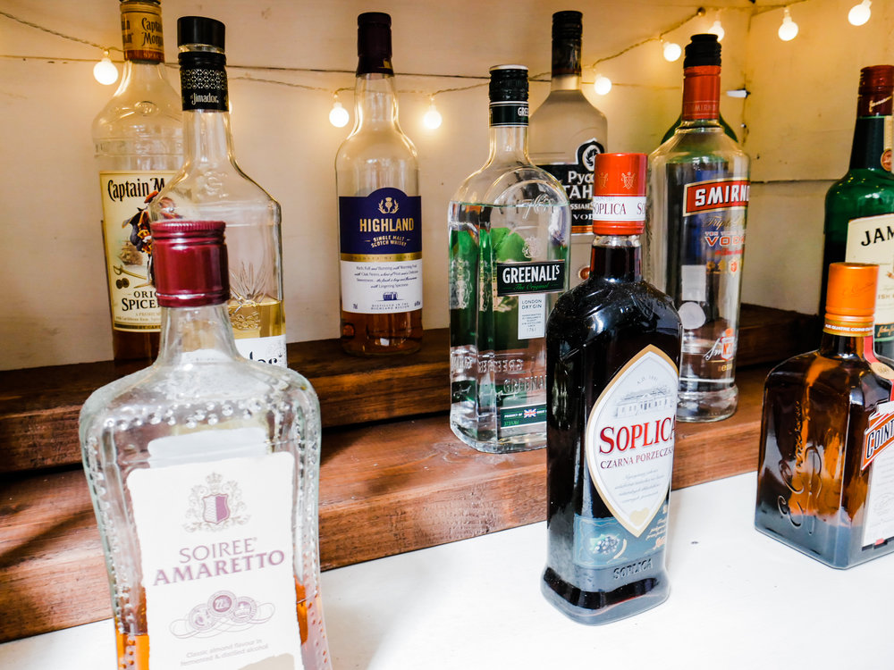 How we upcycled a chest of drawers into a bar cabinet with a wine rack, plus a delicious British cocktail, perfect for summertime