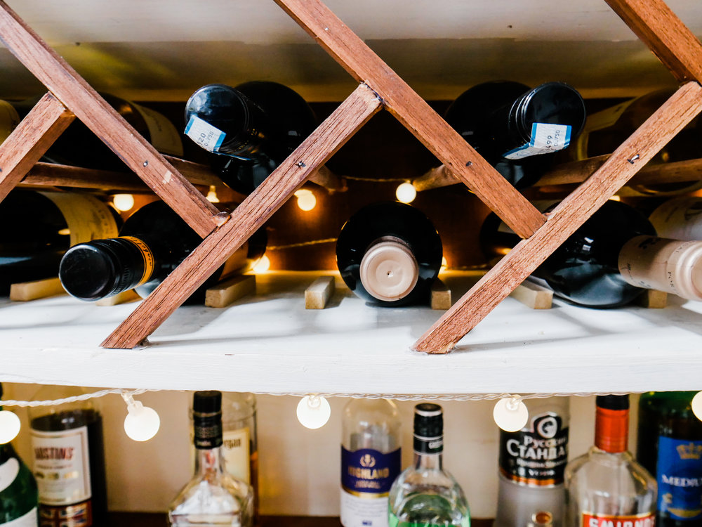 DIY Bar Cabinet Upcycle Project & Pimm's Recipe