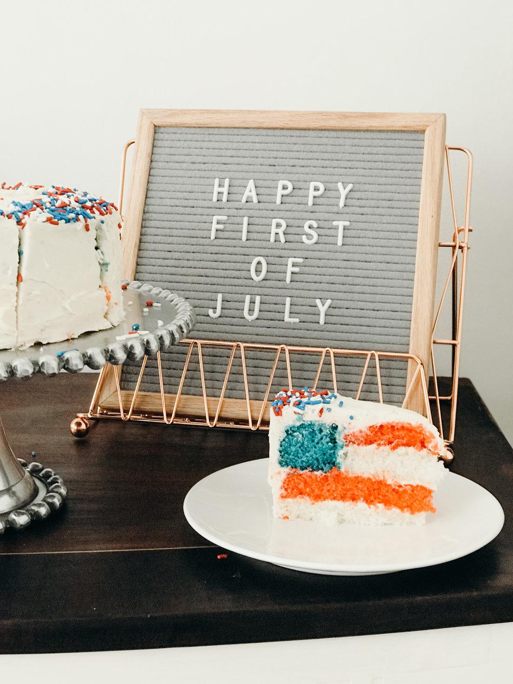 Summer 2018 Highlights - American Flag Cake