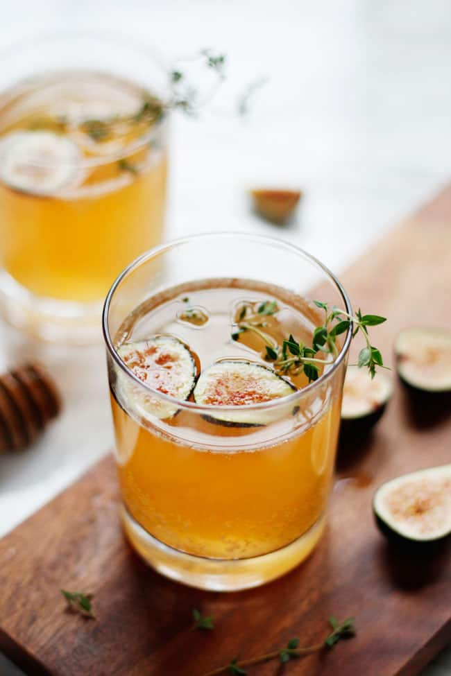 Sparkling Fig & Honey Cocktail Hello Glow
