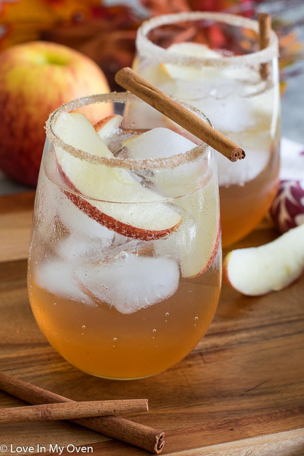 Apple Cinnamon Gin Fizz Love in My Oven