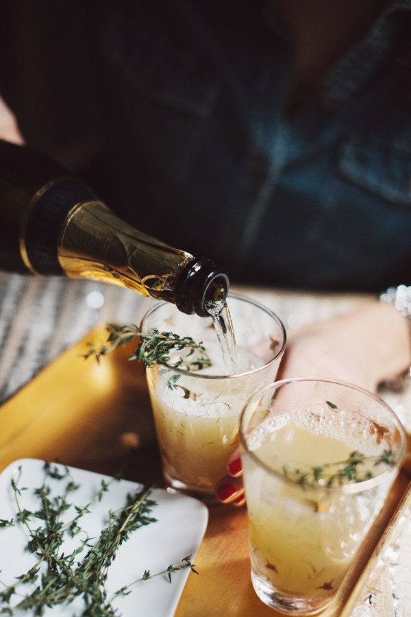 Pear Nectar & Thyme Mimosa Glitter Guide