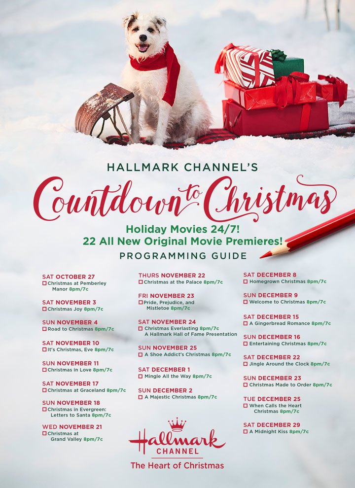 2018 Hallmark Channel Countdown to Christmas