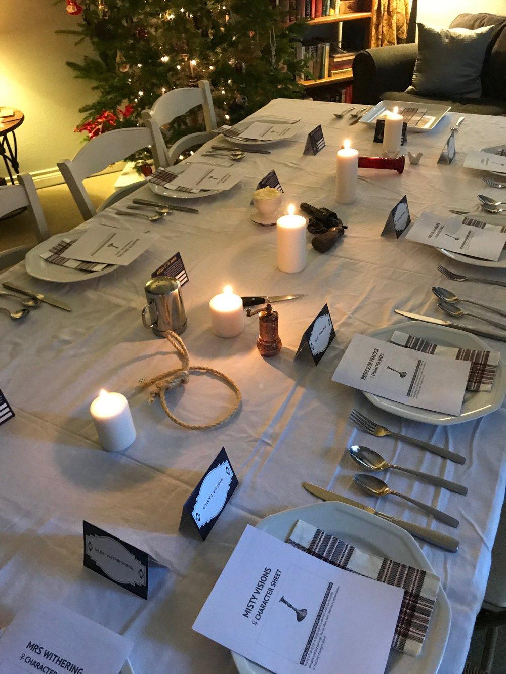Murder Mystery Christmas Dinner